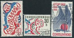 Cecoslovacchia 1968 Usato - Mi.1762;1770;1773  Yv.1619/20;1622 - Gebraucht