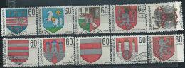 Cecoslovacchia 1968 Usato - Mi.1819/28  Yv.1669/78 - Cecoslovacchia