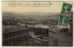SAINT ETIENNE  -  Panorama Vue De L'église Saint Louis  -  Ed. --, N° 186 - Saint Etienne