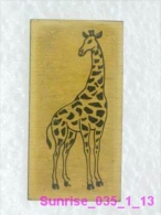 Animals: Giraffe - Camelopard - / Heavy Metal - So Much Uncommon Old Soviet Badge_035_an3668 - Animals