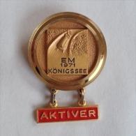 Badge / Pin (Bobsleigh) - Germany (Deutschland)  Königssee European Championship 1971 AKTIVER - Wintersport