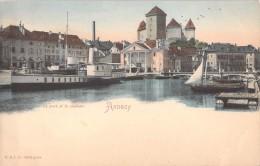 74 ANNECY LE PORT ET LE CHATEAU / BATEAUX - Annecy