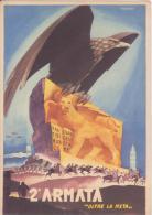 """Cartolina Seconda Armata """" Oltre La Meta """"- Illustratore Ferencich - Guerra 1939-45"""