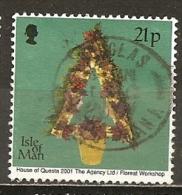 Ile De Man Isle Of Man 2001 Noel Christmas Obl - Man (Eiland)