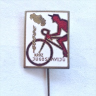 Badge / Pin (Cycling) - Yugoslavia Race Through Jugoslavija - Cycling