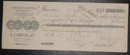 MARSEILLE La Pomme La Capelette Document Autographe Cartes à Jouer A.CAMOIN & Cie 1912 - Cartes à Jouer