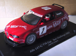 "- FLY - Voiture De Circuit  ALFA 147 GTA Cup "" Gabrielle Tarquini""- 1/32° -  Réf 88083 - - Circuits Automobiles"