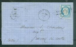 LAC De 1874 Affranchie Par Yvert N°60 TYPE 3 Oblitéré Gc 2291 ( Mayet Sarthe  - Aw8909 - 1849-1876: Periodo Clásico