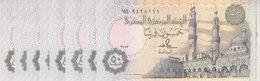 EGYPT 50 PT 1990 : 1993 P-58b SIG/ SALAH HAMED #18 TST#2 LOT X10 UNC NOTES */* - Egypte