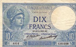10 Fr Minerve 19/11/1931 - 10 F 1916-1942 ''Minerve''