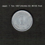 JAPAN    1  YEN  1957  (HIROHITO 32---SHOWA PERIOD)  (Y # 74) - Japan