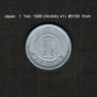 JAPAN    1  YEN  1966  (HIROHITO 41---SHOWA PERIOD)  (Y # 74) - Japan
