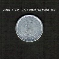 JAPAN    1  YEN  1970  (HIROHITO 45---SHOWA PERIOD)  (Y # 74) - Japan