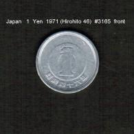 JAPAN    1  YEN  1971  (HIROHITO 46---SHOWA PERIOD)  (Y # 74) - Japan