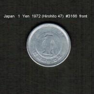 JAPAN    1  YEN  1972  (HIROHITO 47---SHOWA PERIOD)  (Y # 74) - Japan