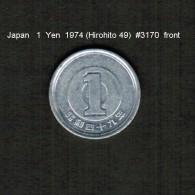 JAPAN    1  YEN  1974  (HIROHITO 49---SHOWA PERIOD)  (Y # 74) - Japan