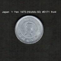 JAPAN    1  YEN  1975  (HIROHITO 50---SHOWA PERIOD)  (Y # 74) - Giappone