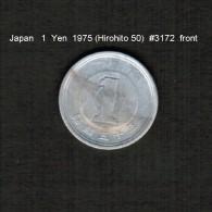 JAPAN    1  YEN  1975  (HIROHITO 50---SHOWA PERIOD)  (Y # 74) - Japan