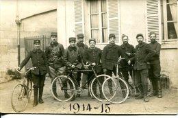 1914-15 - SOLDATS AVEC BICYCLETTES - - 1914-18