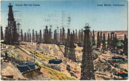 USA, Signal Hill Oil Fields, Long Beach California, CPSM Color. Très Bel état - Long Beach