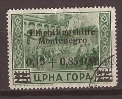 1944 GERMANIA DEUTSCHE BESETZUNG MONTENEGRO CRNA GORA   FLUECHTLINGSHILFE USED - Occupation 1938-45