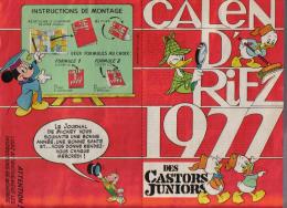 Calendrier 1977 - Des Castors Juniors - Calendriers