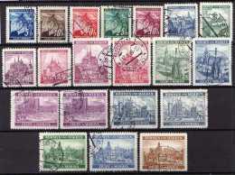 Böhmen Und Mähren 1939 Mi 20-37, Gestempelt (Mi 33; 34 A+b) [231113VII] @ - Besetzungen 1938-45