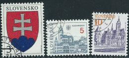 Slovacchia1993 Usato - Mi.163/5  Yv.129/31 - Slovacchia