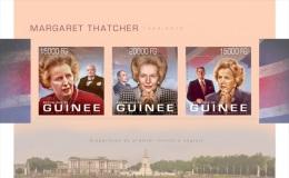 gu13307ai Guinea 2013 British Prime Minister Margaret Thatcher imperf s/s Winston Churchill F Mitterrand Ronal Reagan