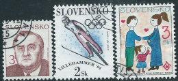 Slovacchia1993/4 Usato - Mi.180;187/8  Yv.146;152/3 - Slovacchia
