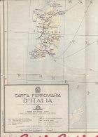 B0971 - CARTA FERROVIARIA D'ITALIA Ed.F.lli Pozzo PUBBLICITA' COCA COLA - SALONE AUTOMOBILE TORINO - Mappe