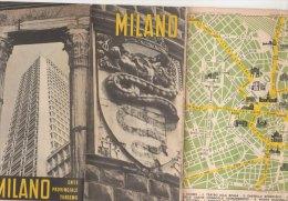 B0982 - PIANTA - MAP - STRADARIO MILANO EPT Anni '60/MUSEI/FIERE/ALBERGHI/ TEATRI/CINEMA/STADI - Europa