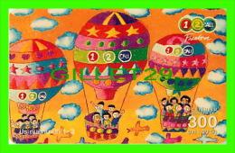 TÉLÉCARTES THAILANDE - MONTGOLFIÈRES - HOT AIR BALOON - 300 BAHT - DEC/2005 - PHONECARDS THAILAND - - Phonecards