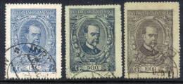 CZECHOSLOVAKIA 1920 Masaryk High Value Definitive Set, Used.  Michel 159-61 - Czechoslovakia