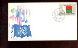 Enveloppe Premier Jour 1er Fdc Flags Series United Nations 1980 Madagscar - Madagascar (1960-...)