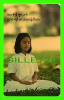 TÉLÉCARTES THAILANDE - DPROMPT GSM - JEUNE FILLE EN PRIÈRE - 300 BAHT - JUNE/2004 - PHONECARDS THAILAND - - Other – Asia