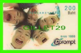 TÉLÉCARTES THAILANDE - DPROMPT GSM - JEUNE GARÇONS - 200 BAHT - 02/2005 - PHONECARDS THAILAND - - Télécartes