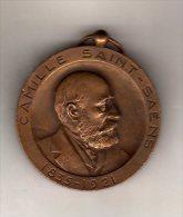 Médaille : Camille SAINT-SAENS 1835-1921 Par ROBIN  ( Scan Recto Et Verso) - France