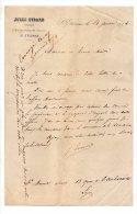 Jules Evrard, Avocat, Rue Du Palais De Justice, St Etienne - 1874 - Manuscrits