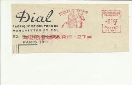Lettre  EMA Satas Sc 1950  Dial L'éclat C'est Moi Animaux  Cheval  Sports Cavalier , Metier Usine Bouton Textile   12/25 - Marcophilie (Lettres)