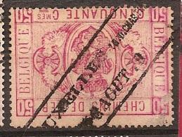 FEC-2007     BRUXELLES    R D CHARTREUX  AOUT  1879    Oblong-stempel            Ocb TR    4   Kleine Verdunning - Railway