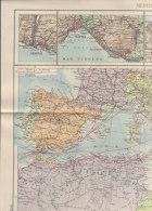 B1010 - CARTA - CARTINA Allegato Rivista Panorama 1939 - MEDITERRANEO E PORTI D'ITALIA - Carte Geographique