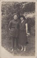 """��  CARTE PHOTO � SITUER  -  Femme avec son militaire  """" Avec mes meilleurs affections SARREBRUCK  �"""