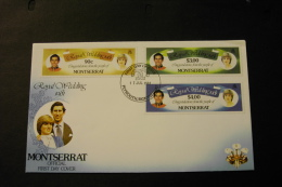Montserrat Royal Wedding Prince Charles And Lady Diana Day Of Issue Cancel 1981 A04s - Montserrat