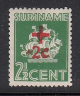 Surinam MH Scott #B39 2 1/2c + 2 1/2c Van Walbeeck's Ship - Surinam