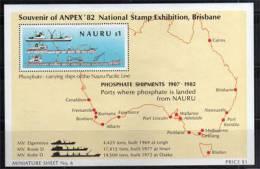 Ile Nauru.Industrie Du Phosphate. Bloc Feuillet Industrie Du Phosphate.  Cote 4.50 € - Nauru