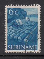 Surinam Used Scott #256 6c Log Raft - Surinam