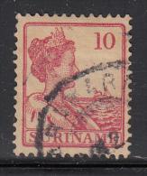Surinam Used Scott #91 Or #92 10c Queen Wilhelmina, Rose/carmine Rose - Surinam