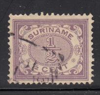 Surinam Used Scott #44 1/2c Numeral, Violet - Surinam