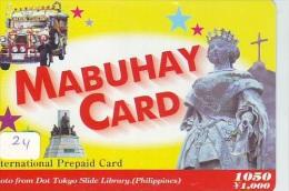 Télécarte Japon * PHILIPPINES RELATED * MABUHAY  (24) FILIPPINES *  TELEFONKARTE * Japan Phonecard * PREPAID CARD - Advertising